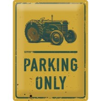Blechschild Tractor Parking Only