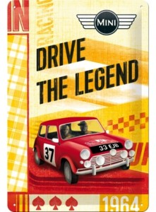 Blechschild BMW Mini 1964 - Drive The Legend