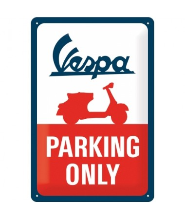 Blechschild Vespa Parking Only